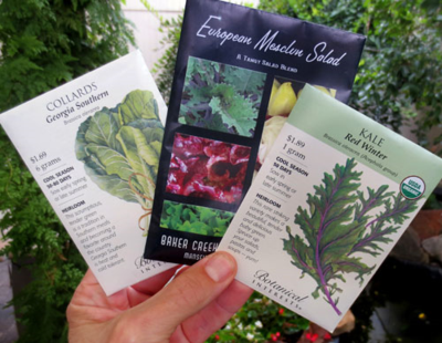 Seed packets have a lot of helpful planting information.